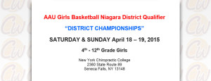 AAU Girls Basketball Niagara District Qualifier